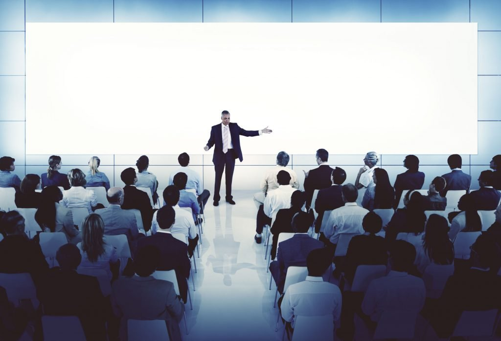 presenter at a seminar